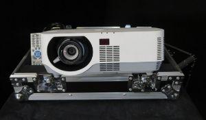 NEC DLP P502H Projector with flight case. Lamp type NP39LP