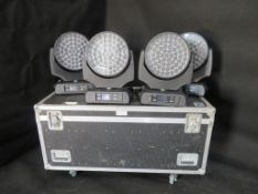 4x Robe Robin 1200 LED wash in 4 way flightcase