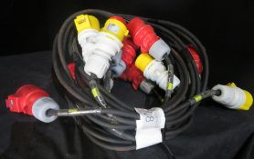 4x 2.5m Motor cable looms, very good condition 1.5mm2 HO7 cable