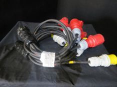 Pair of Socapex Motor control fan outs - 1 power, 1 control. 1.5mm2 HO7 cable
