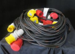 4x 10m Motor cable looms, very good condition 1.5mm2 HO7 cable
