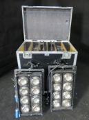 6x 8 cell audience blinder in large flightcase