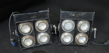 2x Thomas 4 cell audience blinder