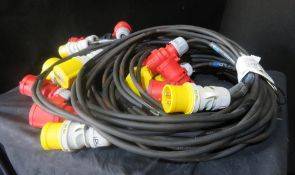 4x 5m Motor cable looms, very good condition 1.5mm2 HO7 cable