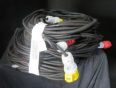 4x 20m Motor cable looms, very good condition 1.5mm2 HO7 cable