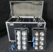 5x 8 cell audience blinder in large flightcase