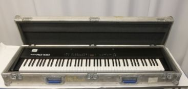 Roland RD-100 Digital Electric Piano in flight case - no power lead or foot controllers in