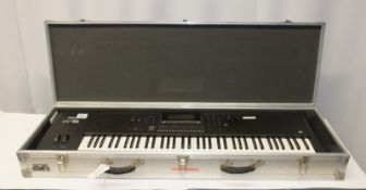 Yamaha W5 Music Synthesiser in Flight case - no power lead or foot controllers included.