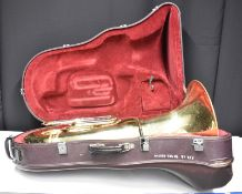 Besson Sovereign BE982 Tuba in Besson Case (missing wheel) - Serial No. 866164 - (two fi