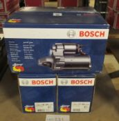 4x Bosch Starter Motors - Models - 0 986 020 250, 0 986 018 390, 0 986 018 270 & 0 986 017
