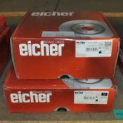 2x Eicher Brake Disc Sets - Models 104 86 0089 & 104 58 0049