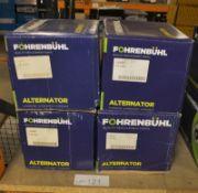 4x Fohrenbuhl Alternators - Models - FA5031, FA5008, FA5069 & FA5103