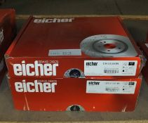 2x Eicher Brake Disc Sets - Models 104 66 0489 & 104 67 0139