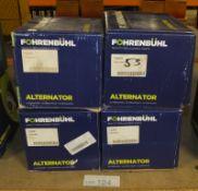 4x Fohrenbuhl Alternators - Models - FA5082, FA5081, FA5033 & FA5052