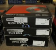 3x Drivemaster Brake Discs - Models - DMD105, DMD085 & DMD084