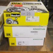 3x LUK Repset Clutch Kits (2x Schaeffler) - Models - 623 3301 00, 641 4418 09 & 620 3239 0