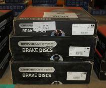 3x Drivemaster Brake Discs - Models - DMD085 & 2x DMD215