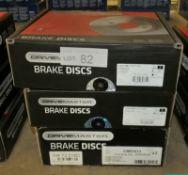 3x Drivemaster Brake Discs - Models - DMD206, DMD205 & DMD033