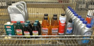 Various Fluids & Oils - Please see pictures for what is included in lot