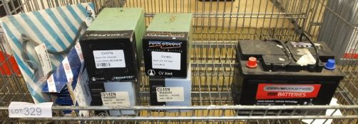 Various Spares - CV Joints, Wiper Blades, Payen JN816 Gasket, Drivemaster 082 71Ah EN 620