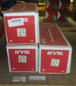 3x KYB Gas Shock Absorbers - Models - 2x 335808 & 334834