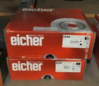 2x Eicher Brake Disc Sets - Models 104 69 1019 & 104 72 0279