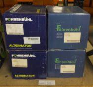 4x Fohrenbuhl Alternators - Models - FA5011, FA5001, FA5203 & FA5086