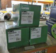 2x Lucas Alternators (LRA003610 & LRA03166) & Lucas Starter Motor LRS02112