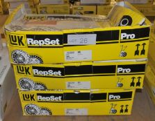 3x LUK Repset Pro Clutch Kits - Models - 626 3053 33, 626 3033 33 & 625 3071 33
