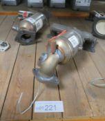 2x Catalytic Converters - BM91561H & BM90848H