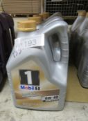 5x Mobil 1 Advanced Full Synthetic Motor Oil - 0W-40 - 5L (please check pictures for sell