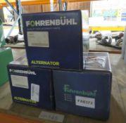 3x Fohrenbuhl Alternators - Models - FA5015, FA6313 & FA6372