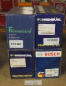 3x Fohrenbuhl (FS1341, FS1020 & FS1339) & 1x Bosch 0 986 022 730 Starter Motors
