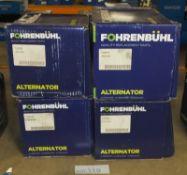 4x Fohrenbuhl Alternators - Models - FA5006, FA5153, FA5015 & FA5009