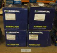 4x Fohrenbuhl Alternators - Models - FA5006, FA5016, FA5022 & FA5082