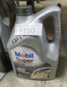 1x Mobil Super 2000 Semi Synthetic Motor Oil - 10W-40 - 5L