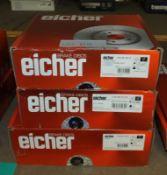 3x Eicher Brake Disc Sets - Models 104 86 0019, 104 90 0239 & 104 85 0309