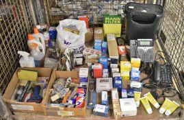 Various Spares - Screws, ABS Sensor, Tools, Batteries, Transmission Fluid, Bulbs, Cleaners