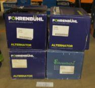 4x Fohrenbuhl Alternators - Models - FA5015, FA5088, FA5038 & FA5017