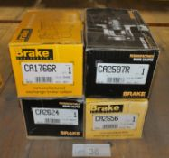 4x Brake Engineering Brake Calipers - Please check pictures for model numbers