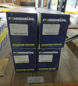 4x Fohrenbuhl Starter Motors - Models - FS2015, FS1014, FS1007, FS2565