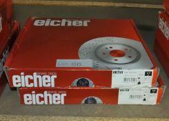 2x Eicher 104 70 0959 Brake Discs