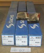 3x Sachs 311 007 009 Shock Absorbers