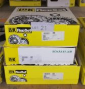3x LUK Repset Clutch Kits (1x Schaeffler) - Models - 625 3023 00, 626 3028 00 & unknown nu