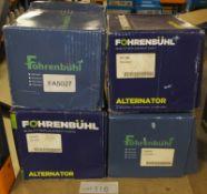 4x Fohrenbuhl Alternators - Models - FA5027, FA5130, FA7198 & FA6345
