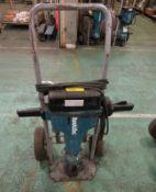 Makita HM1810 Portable Electric Hammer Drill + Trolley - damaged wheel on trolley need repair