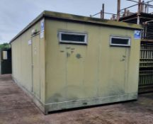 Thurston Toilet Cabin / Container - L9754 x W3633mm - weight empty approx. 5500kg. Details in desc.
