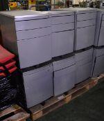 6x Office Pedestal Units - L395 x D575 x H570mm
