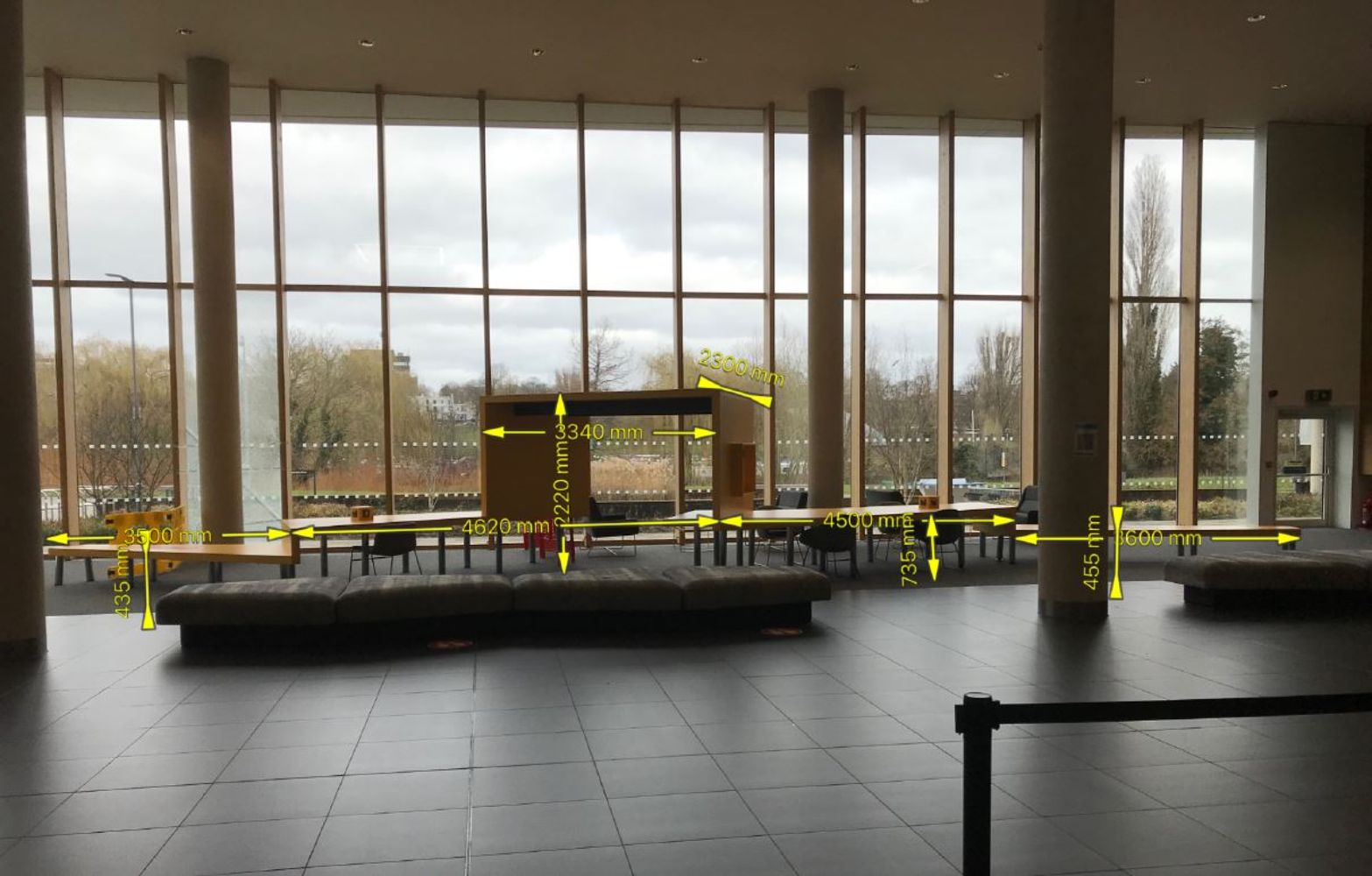 15m Long Multi-Functional Purpose Made Communal Study Desk  - NO RESERVE - LOCATION NORTHAMPTON