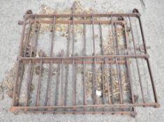 PAIR OF WROUGHT IRON GATES, W-110cm H-105cm